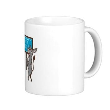 Vote 2016 Democrat Donkey Mascot Cartoon Coffee Mug