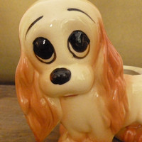 Vintage Hull Sad Eyed Cocker Spaniel Dog Planter