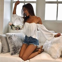 Strapless Off Shoulder Blouse