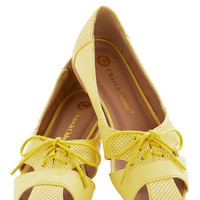 ModCloth Touring Harbor Town Flat in Yellow