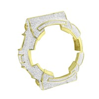 14k Gold Finish Baby G Shock Watch Iced Out Bezel