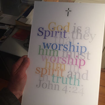 "Biblical Digital Art Print #6, John 4:24, ""God is a Spirit..."""