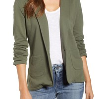 Caslon® Two Pocket Knit Blazer (Regular & Petite) | Nordstrom