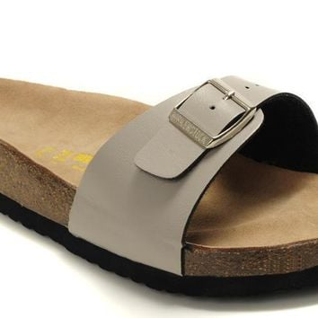 Birkenstock Madrid Sandals Leather Creamy White - Ready Stock