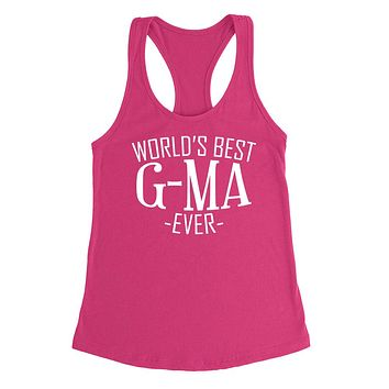 World's best g-ma ever  family  mother's day birthday christmas  gift ideas  best grandma  grandmother  Ladies  Racerback Tank Top