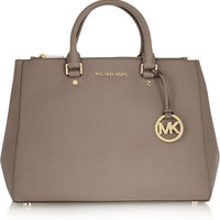 MICHAEL Michael Kors | Sutton large textured-leather tote | NET-A-PORTER.COM