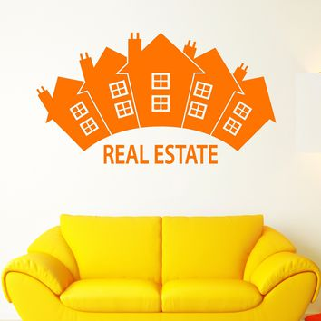 Vinyl Wall Decal Realtor Real Estate Agencies Houses Building Stickers Unique Gift (1990ig)