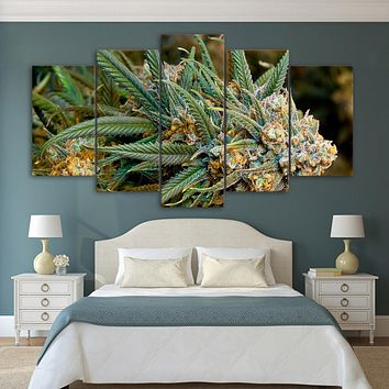 Blue Dream Nug - 5 Piece Canvas Art - Multiple Sizes Available - Dispensary Decor