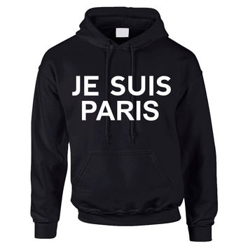 JE SUIS PARIS Eiffel tower women Hoodies