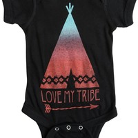 FEATHER 4 ARROW BABY MY TRIBE Onesuit