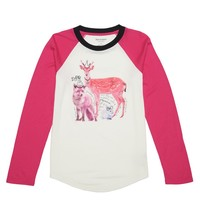 Angel W/ Starlet Animals Graphic Raglan Tee by Juicy Couture,