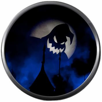 Oogie Boogie Man Blue Moon Nightmare Before Christmas Halloween Town Jack Skellington 18MM - 20MM Charm for Snap Jewelry New Item