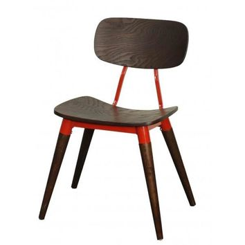 Arken Side Chair ESPRESSO/RED