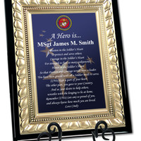 Personalized USMC Plaque Marine Corps Gift