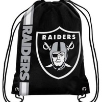 Oakland Raiders Drawstring Bags Polyester Fabric Men Backpack Digital Printing Pouch 35*45CM Sports Fan Flag