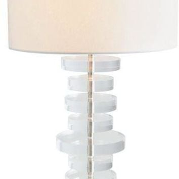 Stacked Acrylic Table Lamp