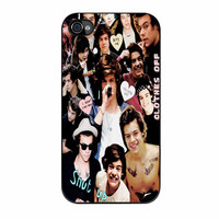 Harry Styles One Direction Collage Clothes Off iPhone 4 Case