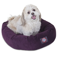 """24"""" Aubergine Villa Collection Micro-Velvet Bagel Bed By Majestic Pet Products"""