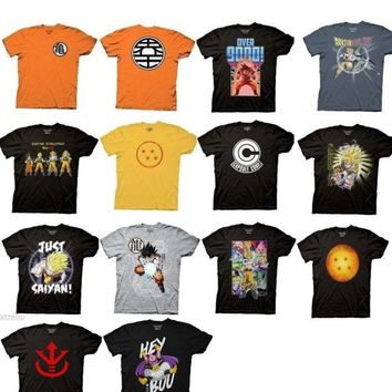 Anime Manga T-shirt Men Adult NEW Dragon Ball Z, Naruto, Bleach, Attack On Titan