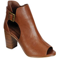 Cutout Open Toe Bootie - Tan