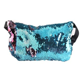 Double Color Sequins Waist Bag Casual Outdoor Sports