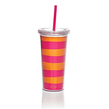 Insulated Tumbler in Orange and Pink by Kate Spade New York