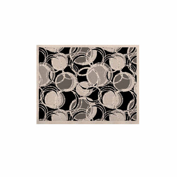 "Julia Grifol ""Simple Grey Circles"" Black Gray KESS Naturals Canvas (Frame not Included)"