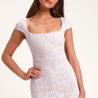 Lilian Lavender Lace Mini Dress