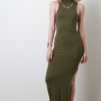 Side Vent Slit Maxi Dress