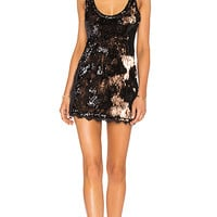 Free People Seeing Double Sequin Slip Dress in Black | REVOLVE