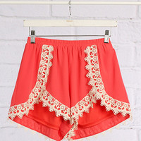 Somewhere Sunny Shorts - Coral