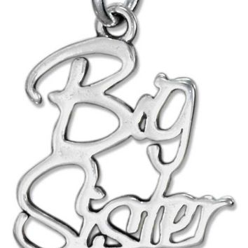 STERLING SILVER SCRIPT BIG SISTER CHARM