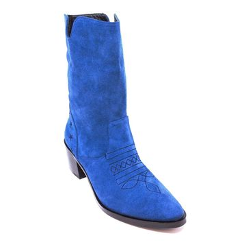 Vera Embroidered Suede Cowboy Boots 2 Colors
