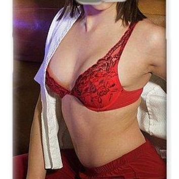 Pin Up Model Brittania Red Lace In Chair - Phone Case