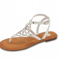 Yellow Box : Gladiator Sandal in White