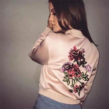 Sports On Sale Hot Deal Women's Fashion Winter Embroidery Jacket Baseball [42066640911]
