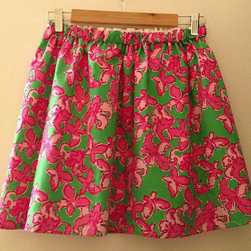 Lilly Pulitzer All a Flutter Cissy Skirt Preppy Sorority