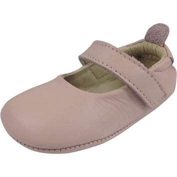 Old Soles Girl's 022 Powder Pink Leather Gabrielle Mary Jane