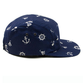 5 Panels Nautic Cap