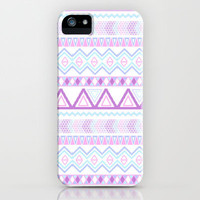 Bright Aztec Andes Pattern Pink Teal Geometrical  iPhone Case by Girly Trend | Society6