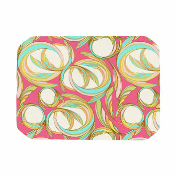 "Amy Reber ""Cirle Sings"" Pink Yellow Place Mat"