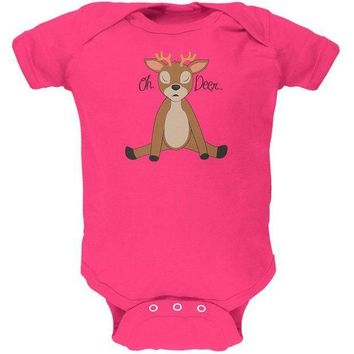 CREYCY8 Oh Deer Funny Pun Cute Soft Baby One Piece