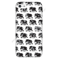 Monochrome Elephant Mobile Phone Case iPhone 3 3GS 4 4S 5 5S 5C Samsung Galaxy S2 S3 S4 Mini S5 Sony Xperia Z Blackberry Z10 Curve Bold HTC
