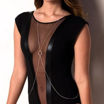 Gift Shiny Jewelry New Arrival Hot Sale Summer Sexy Stylish Simple Body Chain Necklace [7241140167]