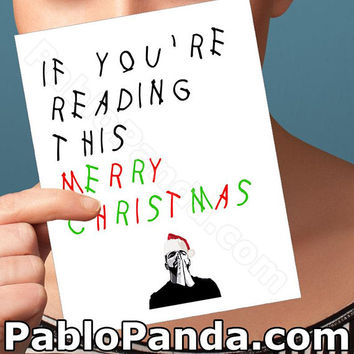 Christmas Cards | Drake | Drizzy Hip Hop Card Santa Claus Funny Christmas Card Boyfriend Card Girlfriend Card Boyfriend Gift Best Boyfriend