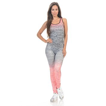 Diamante Women's Power Flex Yoga Pant Legging Sportswear - Style C160