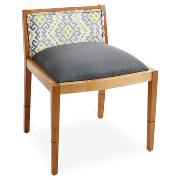 Riona Ikat Accent Chair, Gray, Accent & Occasional Chairs