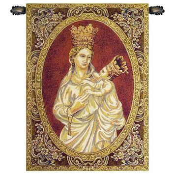 Madonna from Trapani Tapestry Wall Art Hanging