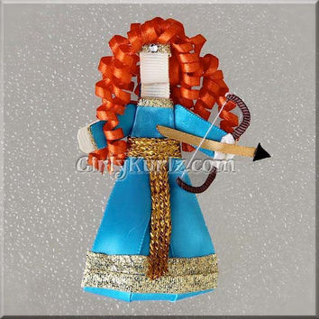 Merida from Brave Ribbon Sculpture Hair Clip Princess Hair Clip Princess Hair Bow