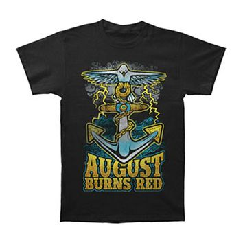 August Burns Red Men's  Dove Anchor Slim Fit T-shirt Black